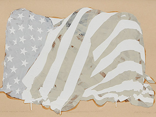 Study for The Flag Today (Light) I